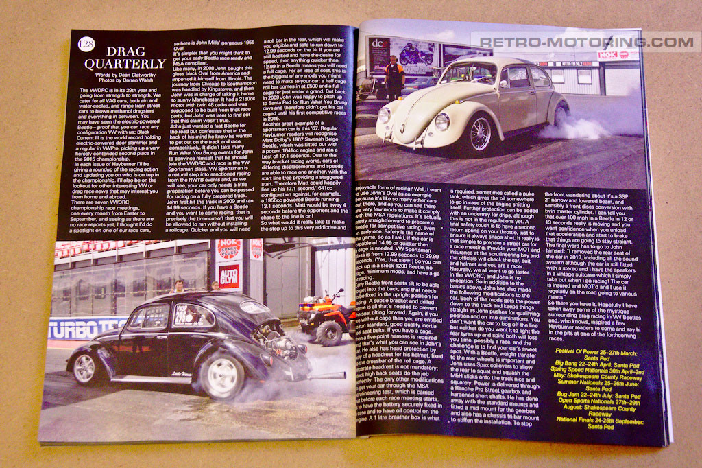 Retro-Motoring photos in Hayburner magazine