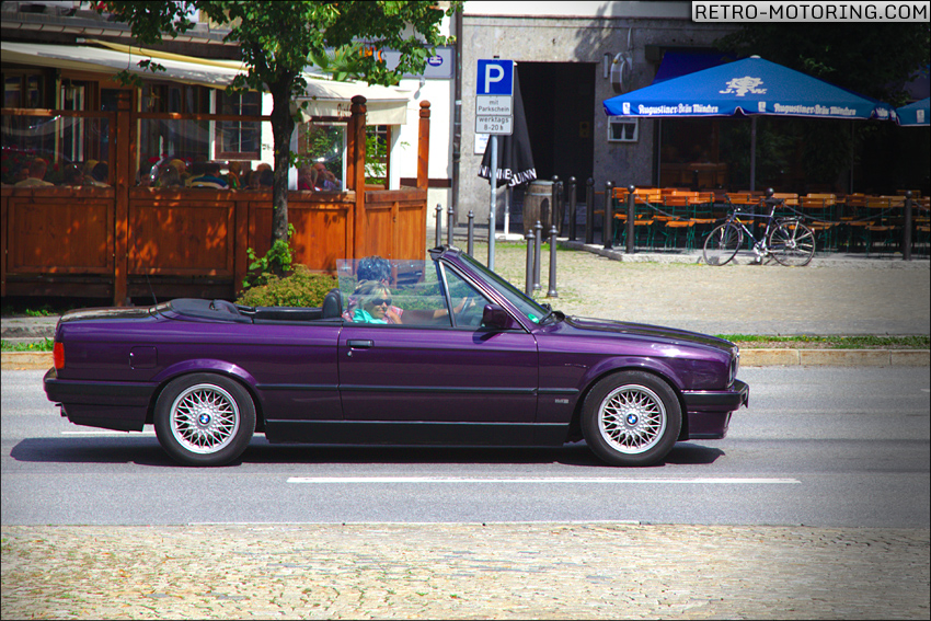 daytona violet bmw e30 318i cabriolet bmw e30 retro motoring. Black Bedroom Furniture Sets. Home Design Ideas