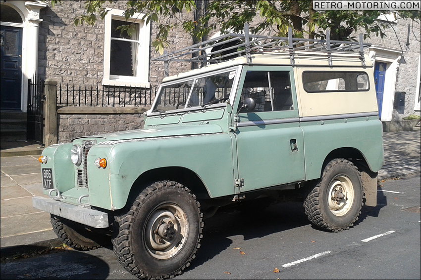 Light Green Land Rover Series II 886XTF Land Rover Series II