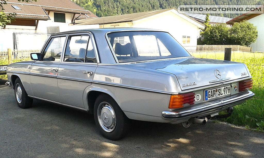 Silver mercedes benz w115 240d 3 0 mercedes benz retro for Mercedes benz 240 d