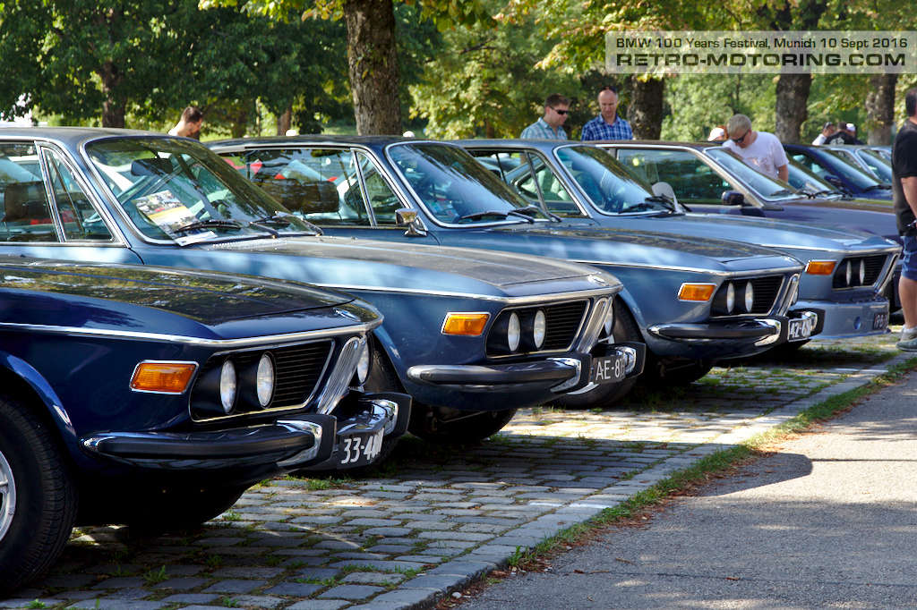 Bmw E9 Cs Coupe Line Up Bmw Festival Munich 2016 Retro Motoring
