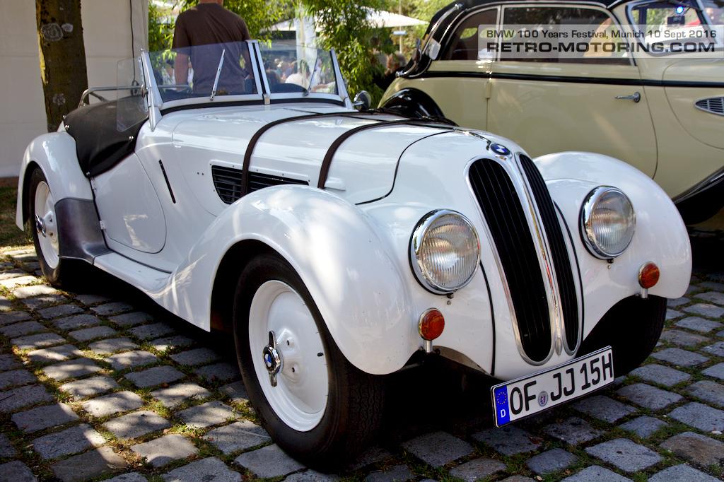 White Vintage Bmw 328 Bmw Festival Munich 2016 Retro Motoring