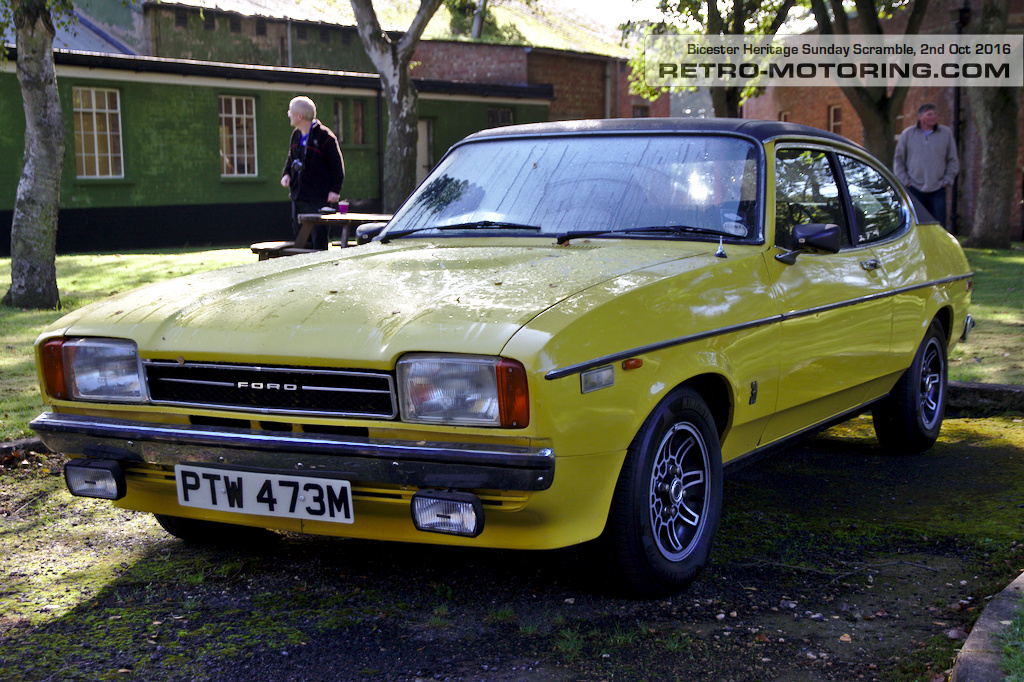 yellow ford capri mk2 3 0 ptw473m bicester heritage 11th sunday scramble 2016 retro motoring. Black Bedroom Furniture Sets. Home Design Ideas