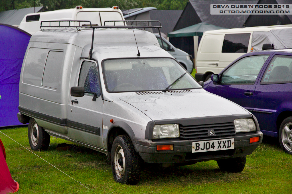 Silver Citroen Visa C15 Van BJ04XXD Deva Dubs and Rods ...