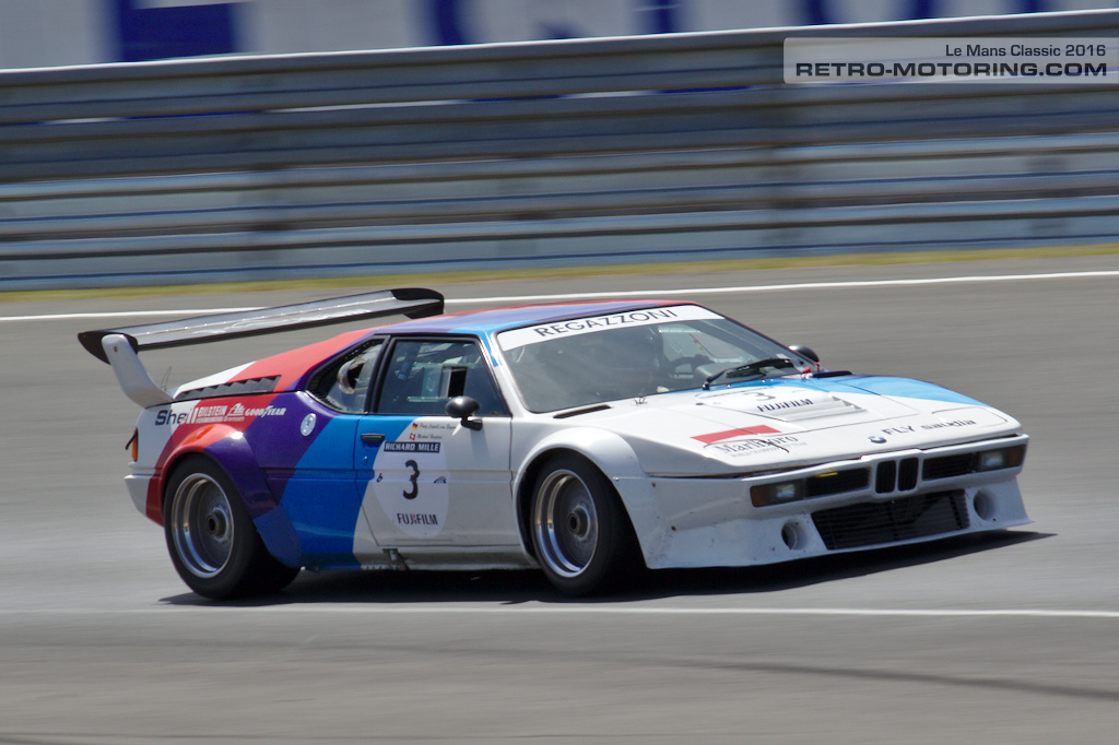 BMW M1 Procar on track at the Le Mans Classic 2016