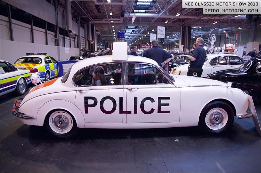 White Jaguar Mk2 Police Car Nec Clic Motor Show 2017 Retro Motoring