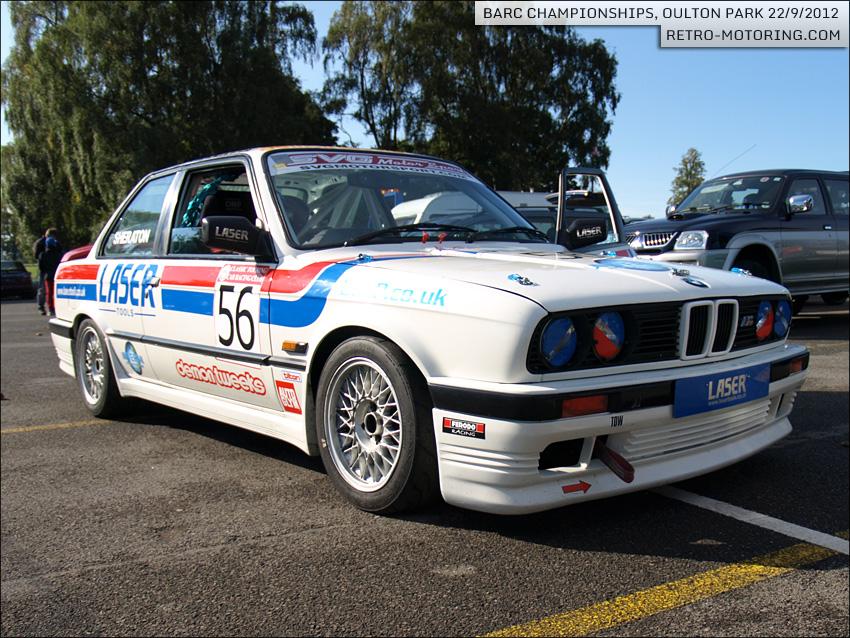 Car 56 Michael Sheraton White Aps Racing Bmw E30 2500cc Barc Championships Oulton Park 2012