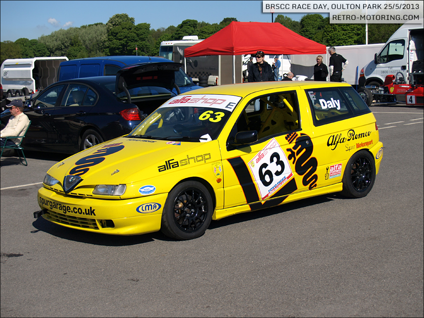 car 63 matt daly yellow alfa romeo 145 brscc championships oulton park 2013 retro motoring. Black Bedroom Furniture Sets. Home Design Ideas