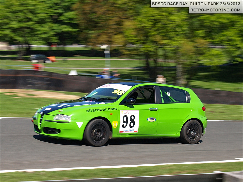 car 98 - adie hawkins - green alfa romeo 147 brscc championships