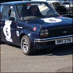Car 6 - George Leitch - Blue Ford Fiesta Mk1 MMX271W