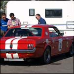 Car 32 - Alasdair Coates - Red Ford Mustang