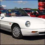 White Alfa Romeo Spider