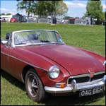 Red MG MGB Roadster OAG616H