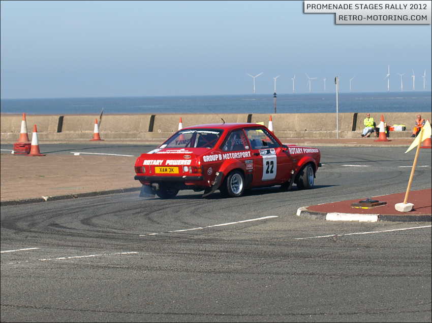 Car 22 - S Hopewell and E Hopewell - Red Ford Escort Mk2 Rotary