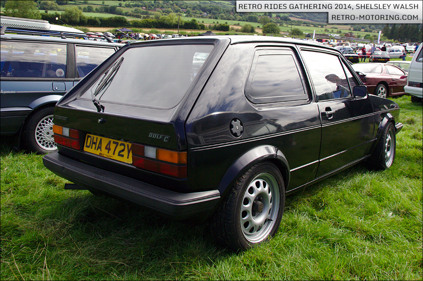 black vw golf mk1 van c dha472y retro rides gathering