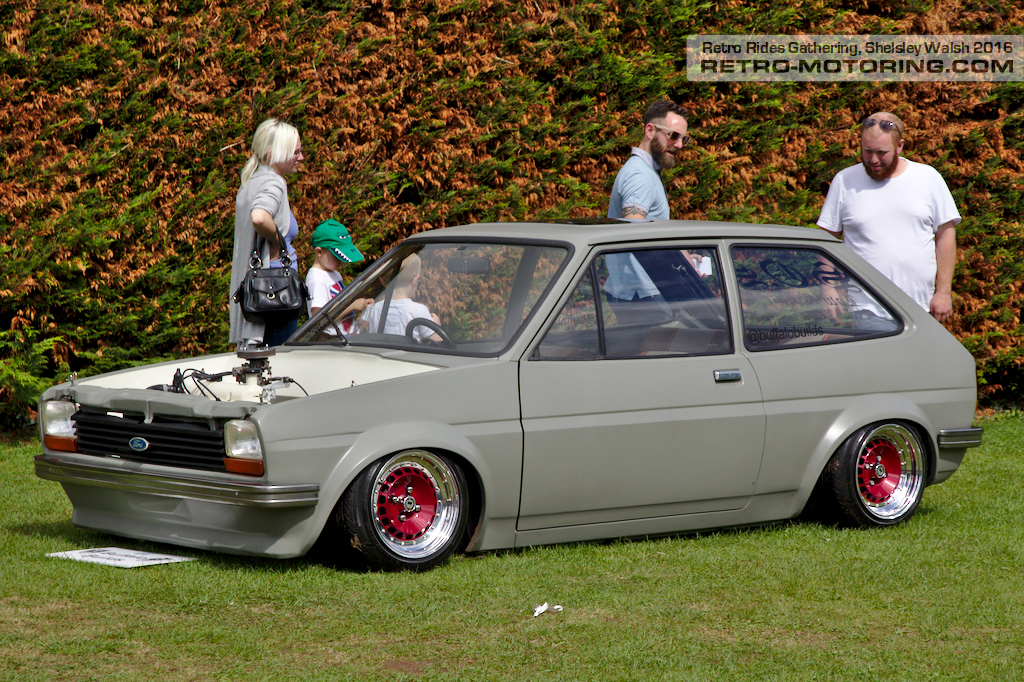 grey ford fiesta mk1 on schmidt wheels retro rides. Black Bedroom Furniture Sets. Home Design Ideas