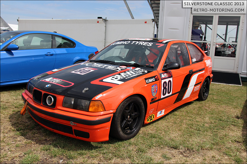 Bmw E36 Compact Cup Race Car At The Silverstone Classic 2013 Silverstone Classic 2013 Retro