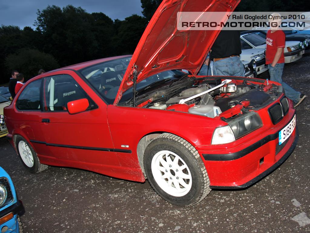 Red Bmw E36 Compact S188flg P7317601 Y Rali Gogledd Cymru 2010 Retro Motoring